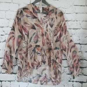 LOLA (made in Italy) Silk Blouse Large